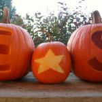 the post in which we carve pumpkins