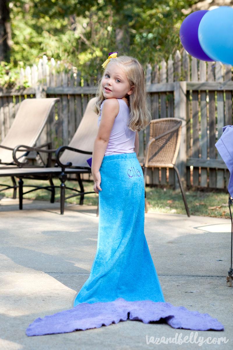 DIY Mermaid Birthday Party - Taz and Belly