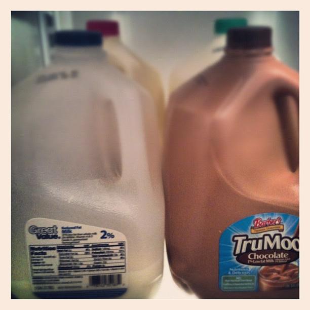 Does anyone else find it excessive that we have four gallons of milk in our fridge right now?