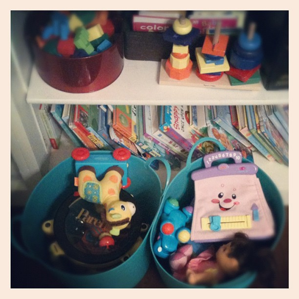 These stay put when the littles aren't home ;). #toy #marchphotoaday