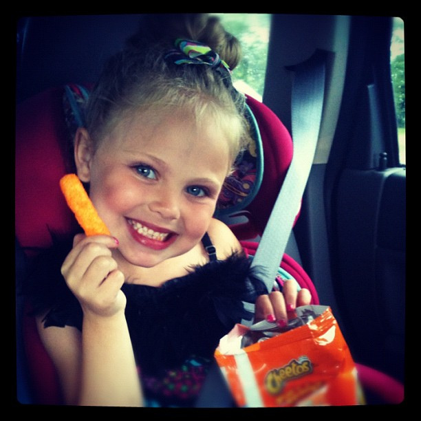 Cheetos = dance fuel! #myviewtoday #dancerecital #photoadayjune