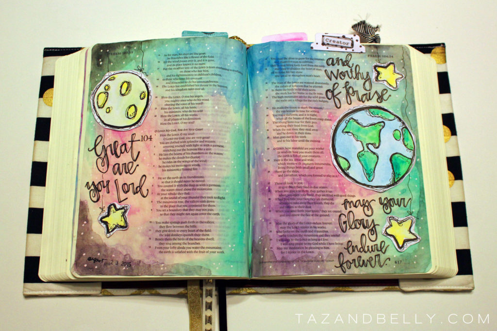 Created to Create: A Bible Journaling Video Tutorial   tazandbelly.com