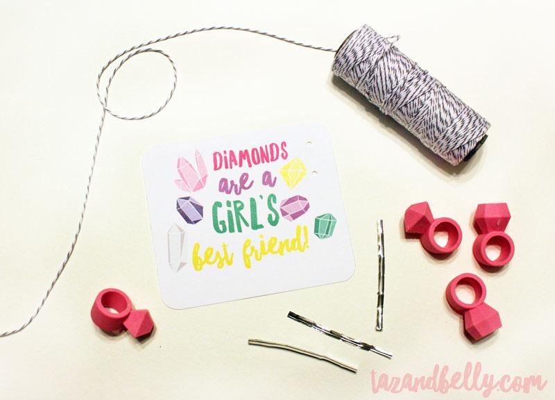 DIY Diamond Ring Valentines | tazandbelly.com