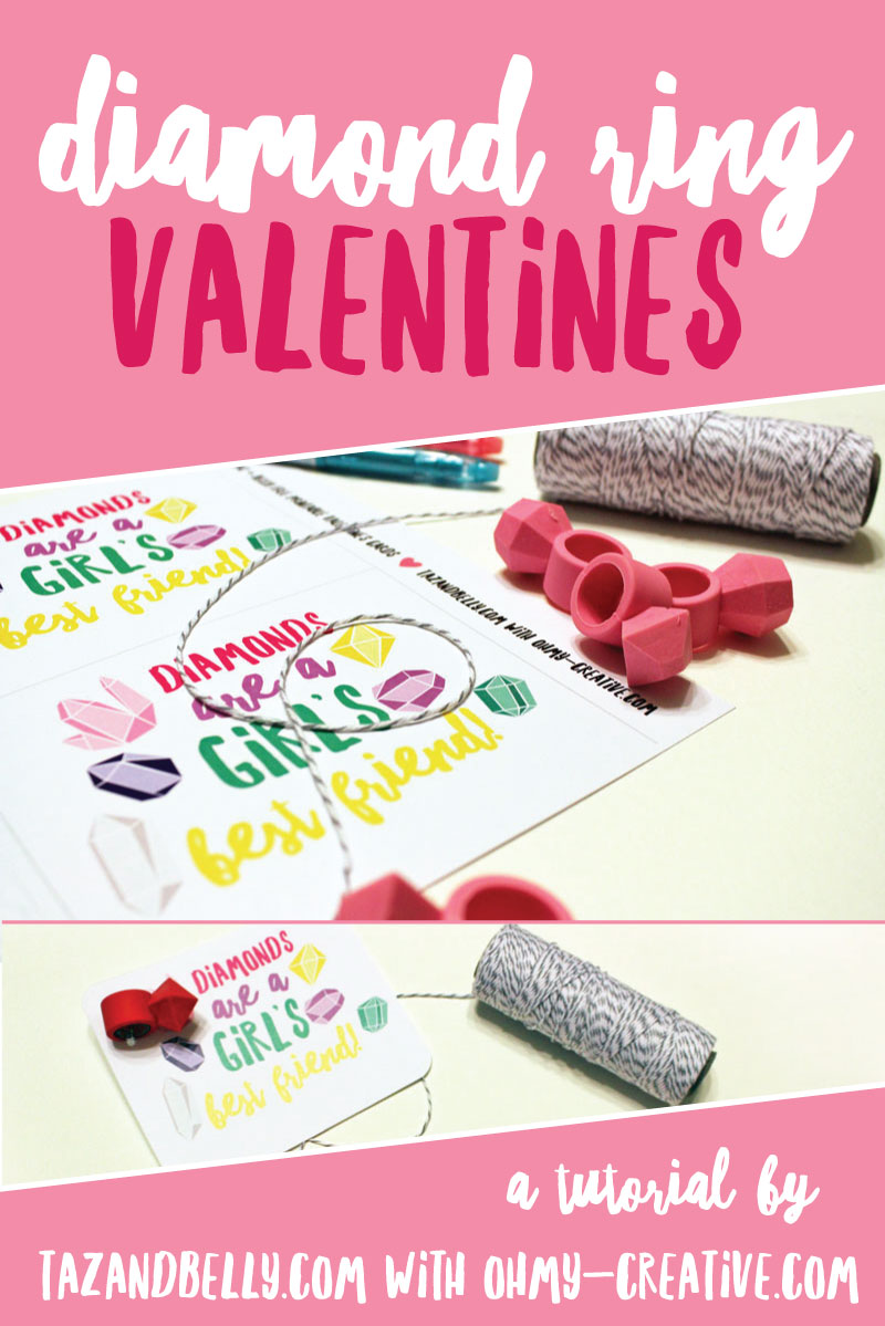 DIY Diamond Ring Valentines | tazandbelly.com