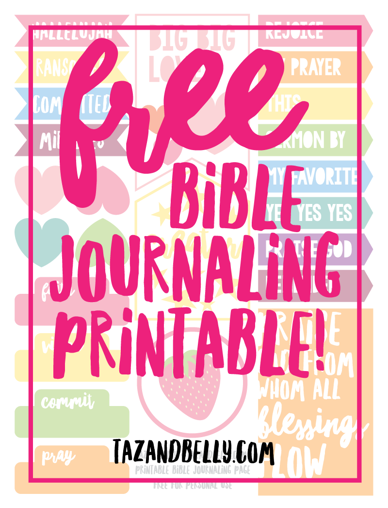 image regarding Free Printable Bible Journaling Pages named Free of charge Bible Journaling Printable + January as a result of the Figures