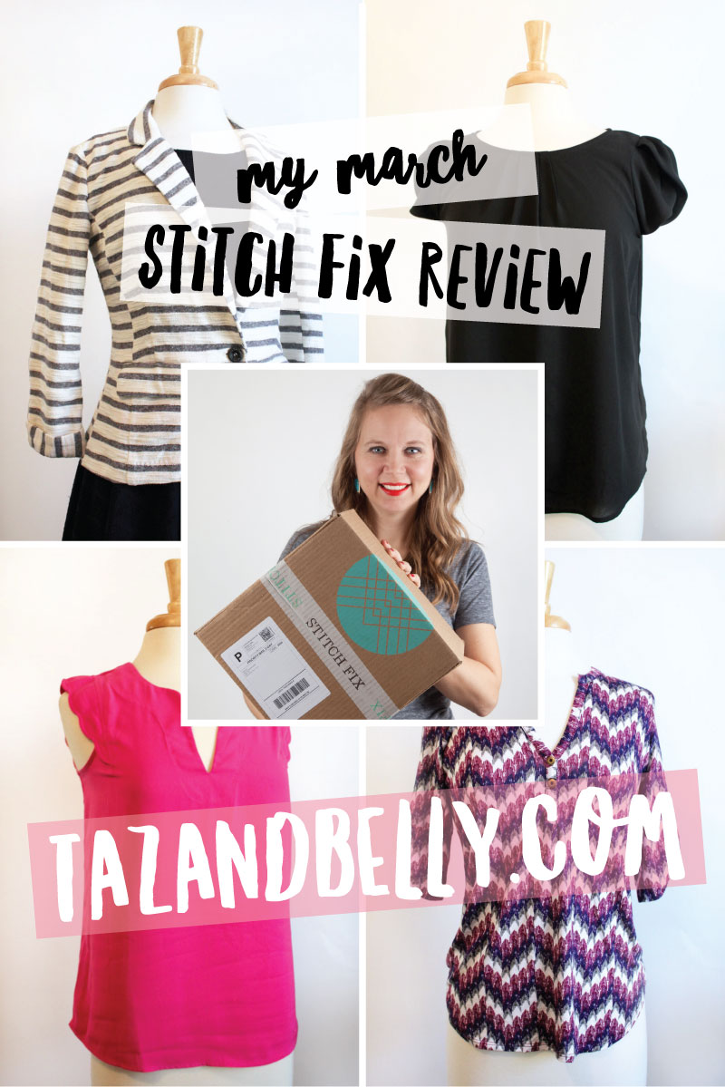Wardrobe Wednesday: Stitch Fix Review| tazandbelly.com