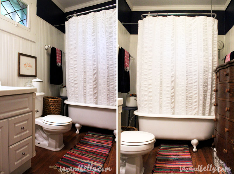 Budget Boho Bathroom Before After