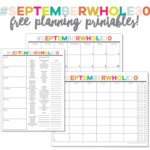 September Whole30 Printables