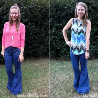How to Style Bell Bottom Jeans | tazandbelly.com