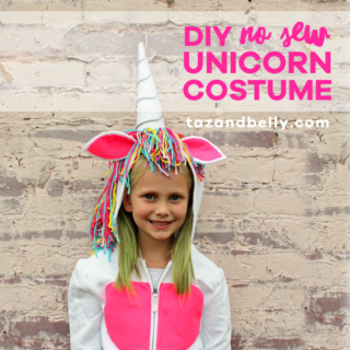DIY Unicorn Costume | tazandbelly.com