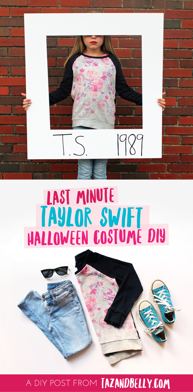 diy | last minute taylor swift halloween costume - taz and belly