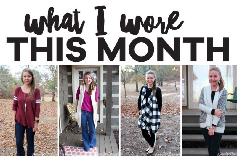 What I Wore in November | tazandbelly.com