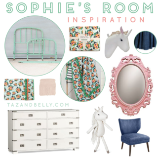 Sophie's Room Inspiration | tazandbelly.com