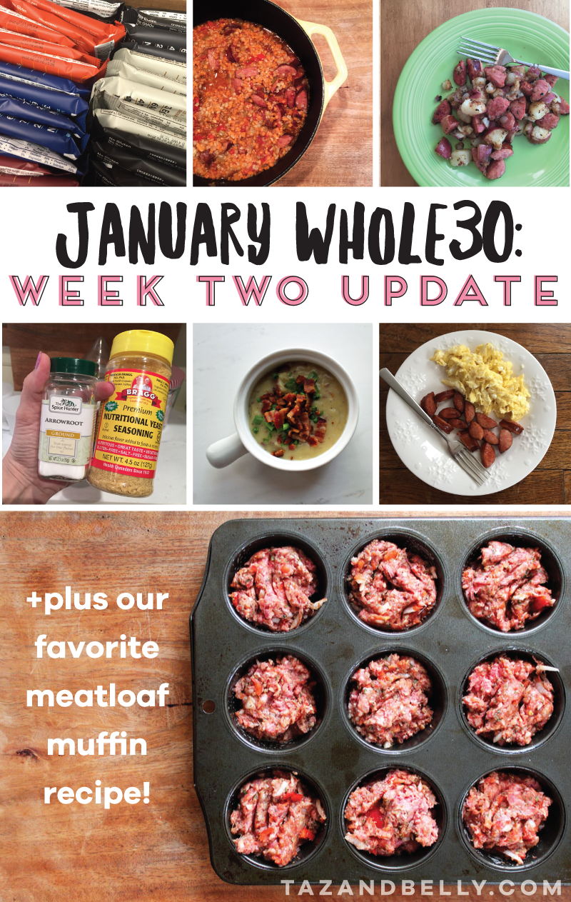 Looking for help on your first Whole30? Follow along as I update you on our weekly progress! | tazandbelly.com