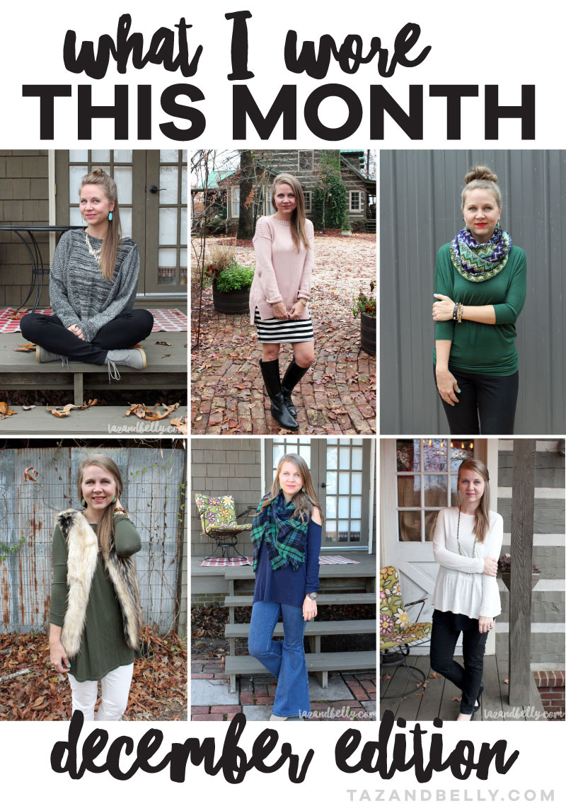What I Wore in December: Monthly Inspiration for Workging Moms | tazandbelly.com