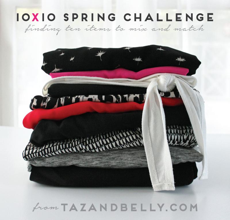 10x10 Spring Style Challenge | tazandbelly.com