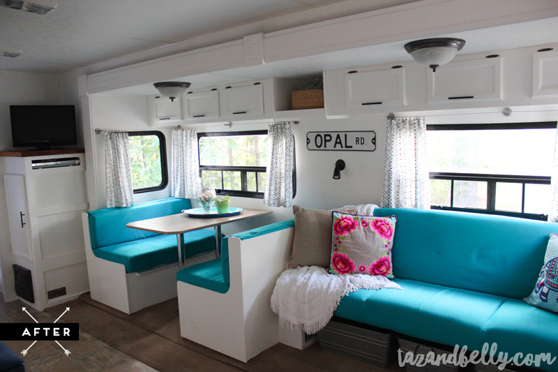 Opal Final Camper Transformation | tazandbelly.com