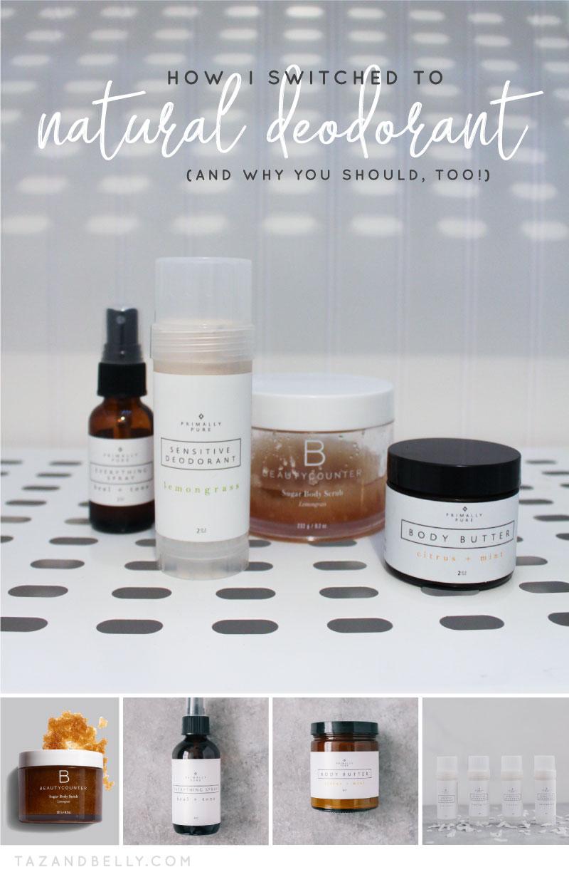 Natural Deodorant | tazandbelly.com