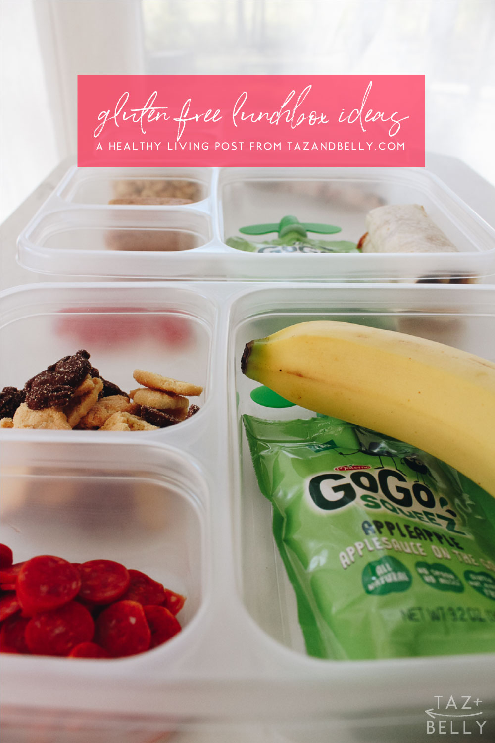 Gluten Free Lunchbox Ideas | tazandbelly.com