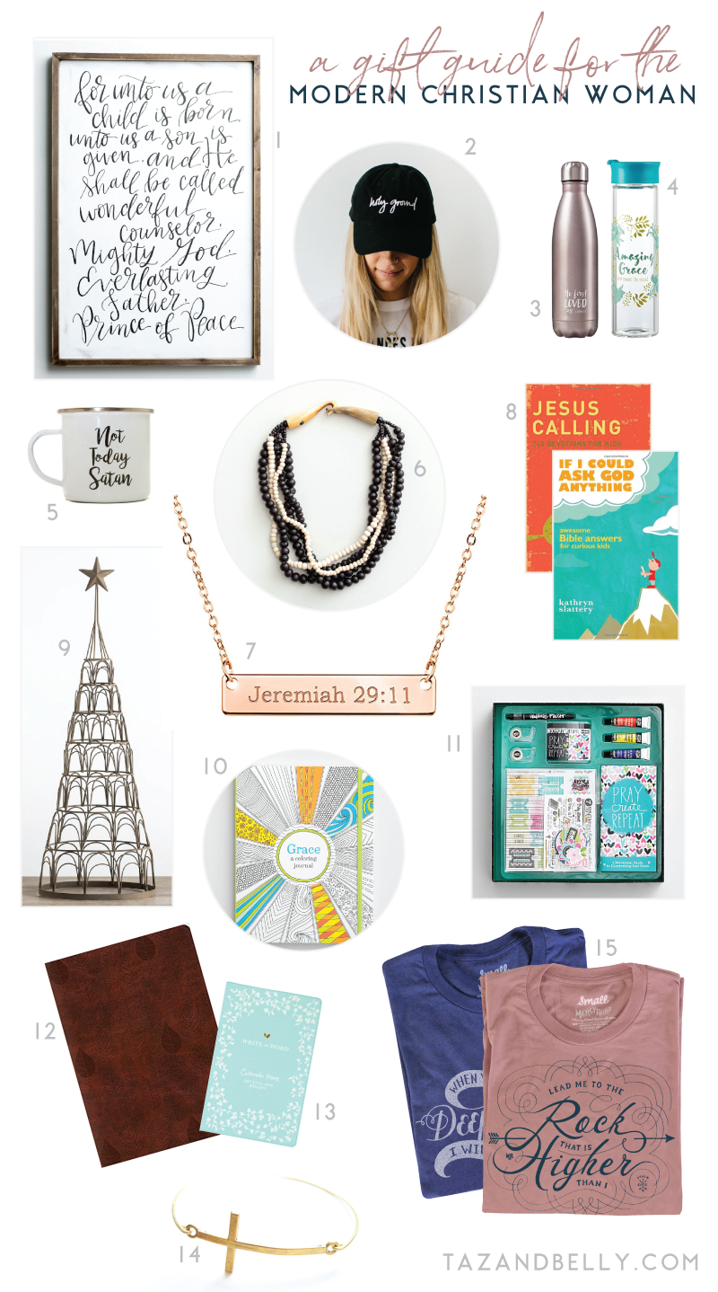 Holiday Gift Guide for the Modern Christian Woman | tazandbelly.com