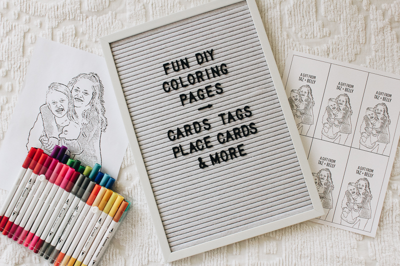 create your own coloring pages gift tags with a posh coloring